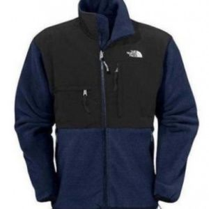 North Face Navy/Black Full-zip Fleece Jacket. Sz L
